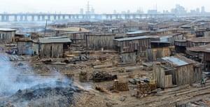 Makoko, a slum located in a lagoon in Lagos, Nigeria.