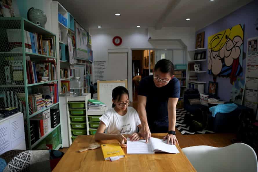 Ferdinand Tan and his homeschooled daughter