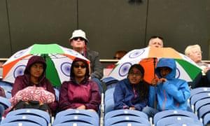 Rain stops play in Cardiff.
