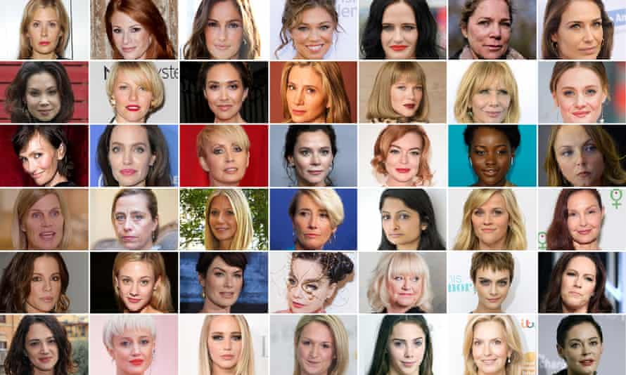Some of Harvey Weinstein's accusers.