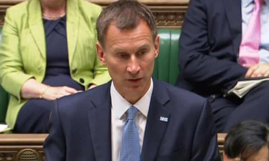 Jeremy Hunt issues a statement on Gosport hospital in the House of Commons.