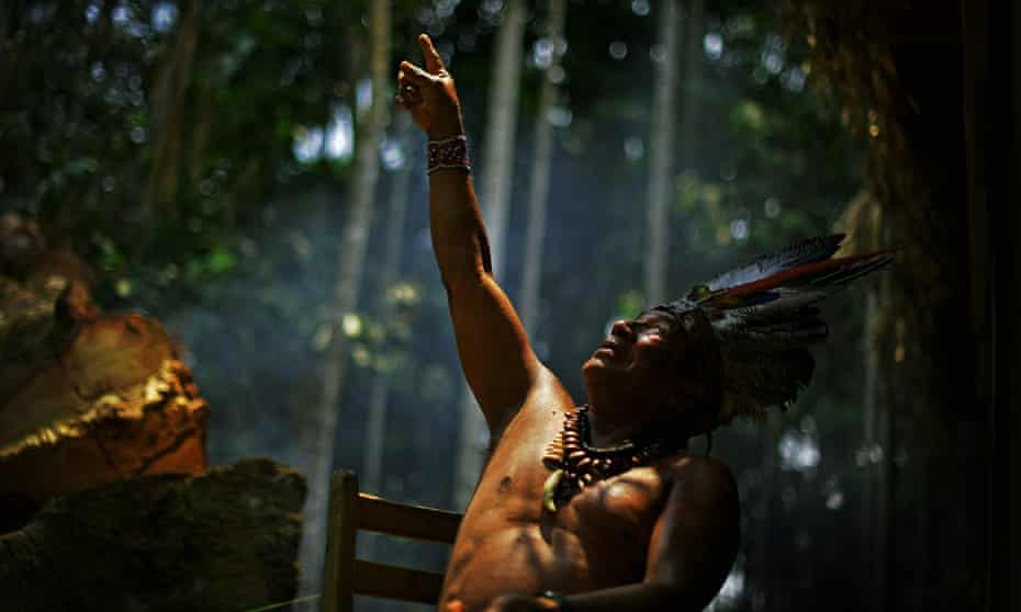 Chief Marcelino Apurina, of the Aldeia Novo Paraiso in the western Amazon rainforest, which has suffered some of the heaviest deforestation in the region.