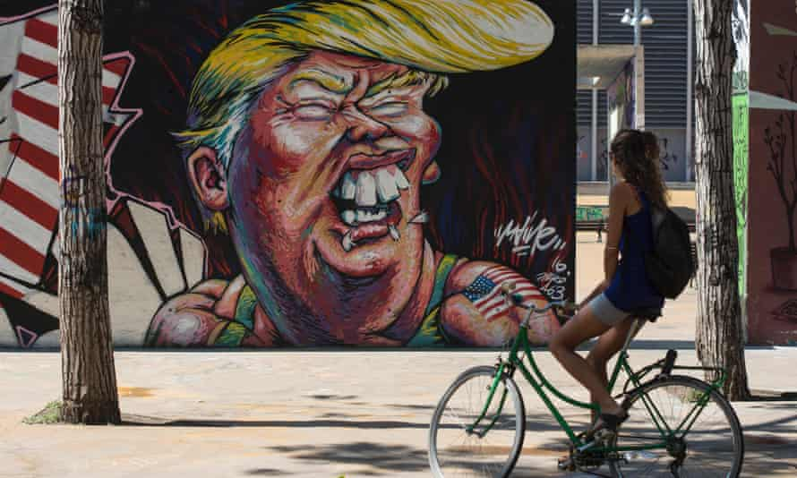 Donald Trump's mix of bombast, menace and bawdy humor echoes that of the comandante.