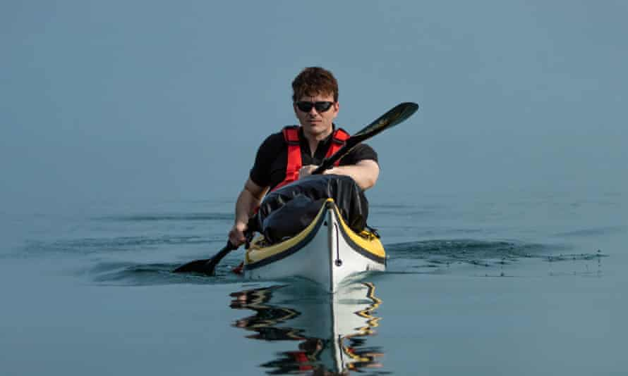 The author in his kayak