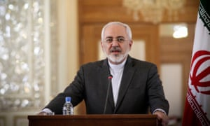 The Iranian foreign minister, Mohammad Javad Zarif.