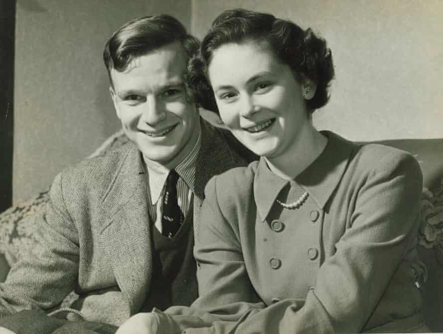 John and Patricia Gerrard after getting engaged. They married in 1953.