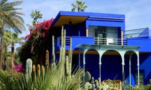 Yves Saint Laurent's bright royal blue Jardin Majorelle