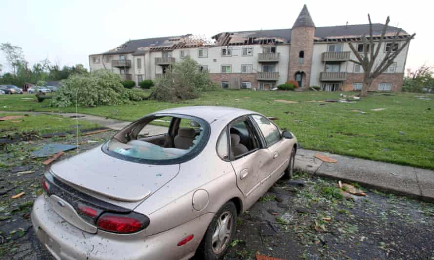A tornado touched down overnight in Trotwood, near Dayton, Ohio. Dayton Power & Light said 50,000 customers were without power.