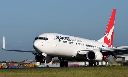 A Qantas Boeing 737-800 landing in Sydney. The airline announced the
