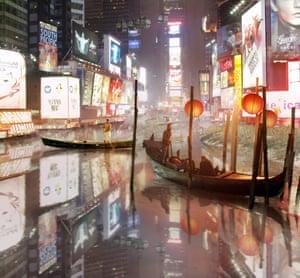Aqualta by Studio Lindfors illustrates New York adapting to rising waters.
