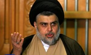The Iraqi cleric Moqtada al-Sadr.
