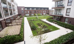 Social housing tenants have been blocked from using a communal play area at the Baylis Old School complex in south London.