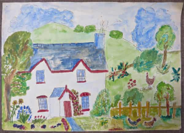 Reg's painting of the house he lived in with George.