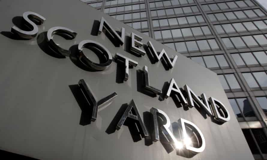 The sign outside New Scotland Yard in London