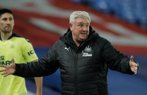 Newcastle United manager Steve Bruce at the end of the game.