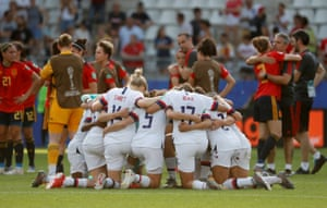 The US players at the end of the match.