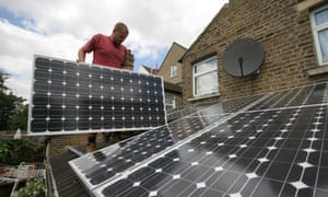 Solar panels in London