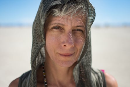 Laura Diamond, whose ashes were interred at Burning Man on Sunday.