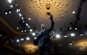 President Barack Obama speaks at a town hall at the Young African Leaders Initiative Summit at the Omni Shoreham Hotel in Washington, US