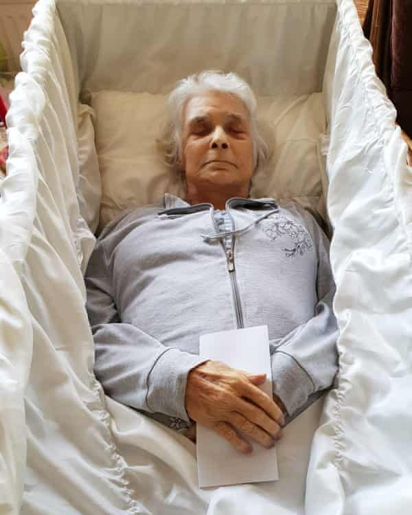Marijke, who was euthanised at 76, with a letter from her son, written after her death, detailing his upset at her decision.