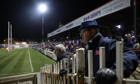 Supporters at Wakefield's Mobile Rocket Stadium