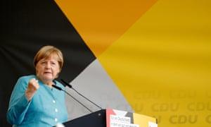 German chancellor Angela Merkel campaigns in Koblenz, Germany
