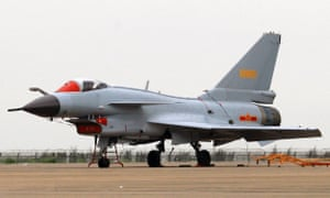 A Chinese J-10 fighter made an 'unsafe' approach to an American surveillance plane, according to Pentagon officials.