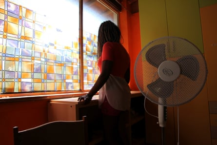 A Nigerian woman at a social support centre for trafficked girls, Italy, 2016.