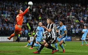 The goalkeeper Lee Burge is among the academy graduates who have impressed at Coventry over recent seasons.