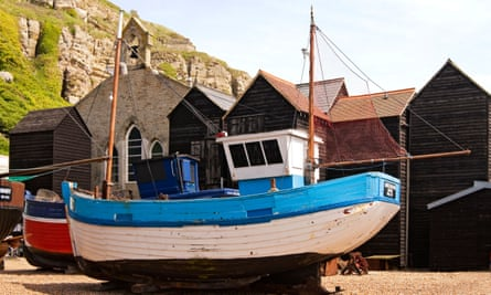 fishing boats and Victorian-era 'net shops' in Hastings