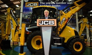 Boris Johnson speaking at JCB's headquarters