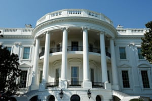 The White House looking resplendent after the renovations, which began on 4 August, when Trump departed for Bedminster on his 'working vacation'