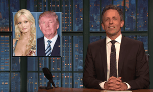 Seth Meyers: 'For once, I'm going to say: let's not take a closer look.'