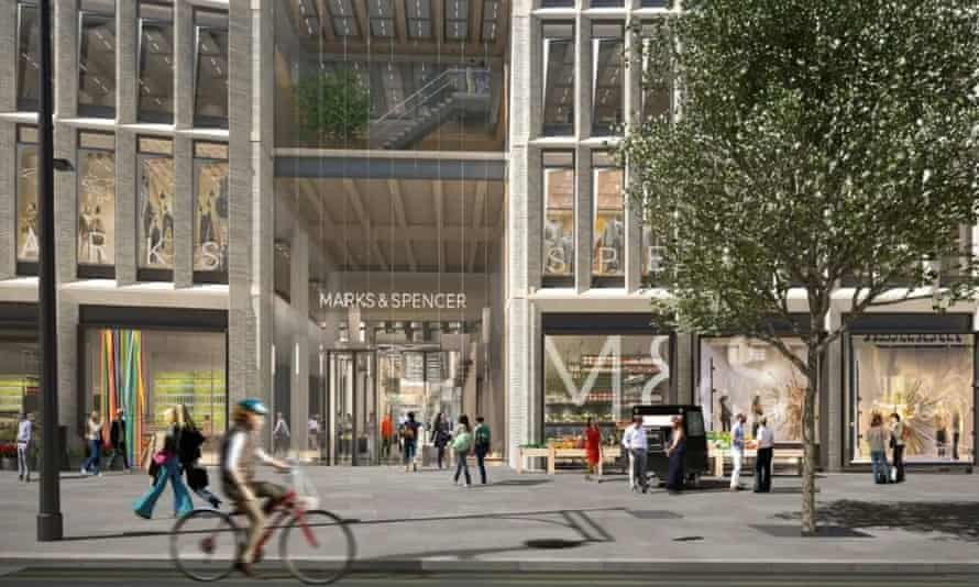 An artist's impression of a new Marks and Spencer store in Marble Arch