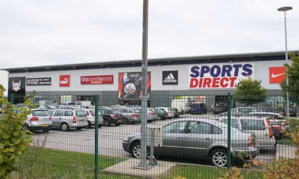Sports Direct warehouse in Shirebrook, Derbyshire