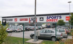 Sports Direct warehouse in Shirebrook, Derbyshire