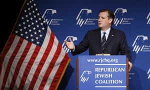 Ted Cruz speaks at the Republican Jewish Coalition spring leadership meeting on Saturday.
