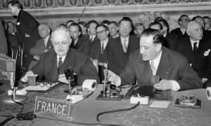 The signing of the Treaty of Rome in 25 March 1957.