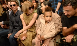 Seth Meyers, Anna Wintour, Kim Kardashian West and North West attend Kanye West's third catwalk show in New York