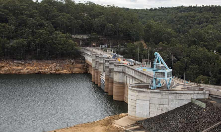 The Warragamba dam wall which the NSW government is proposing to raise
