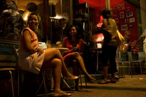 Young South Africans in bar in Melville, Johannesburg