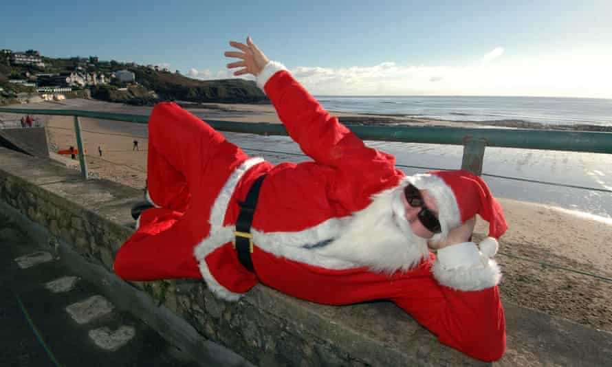 Father Christmas at the seaside