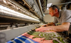 A carpet is made at the Axminster manufacturing site in Devon.