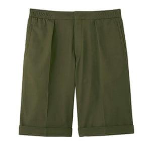 oversize khaki shorts