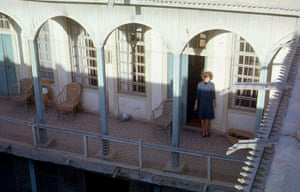 Ann Searight on the balcony of the British School, Baghdad 1963
