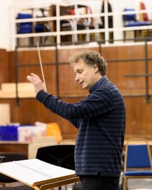 Conductor David Murphy in rehearsal for Sukanya.