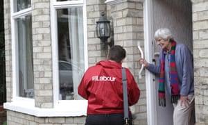 Labour candidate Sandi Redpath canvassing in Micklegate ward.