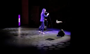 Dr John Cooper Clarke during his show at Middleton Hall at the University of Hull during day two