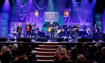 Nathaniel Rateliff and The Night Sweats performs onstage at the Americana Honors & Awards 2016 in Nashville.