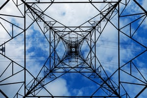 A pylon and power lines